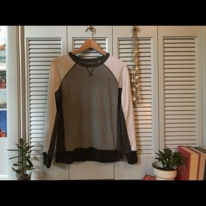 Grey and White Pullover